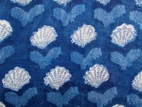 Cotton Fabric Blue Print Design