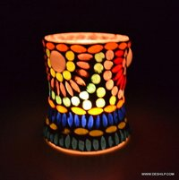 Candle Holder Glass and Mirror Candle Votive