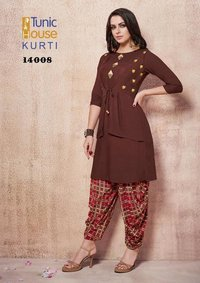 Fancy Kurti With Dhoti