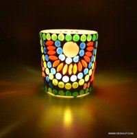 Home Decor Night Mosaic Candle Votive