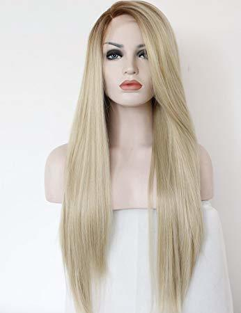 Women Blonde Straight Hair Wig