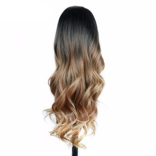 Women Two Tone Wavy Hair  Wig