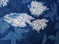 Blue Color Block Print Fabric