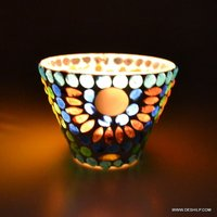 ICE CUP SHAPE GLASS CANDLE VOTIVE