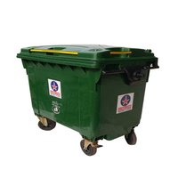 Plastic Four Wheeled Dustbin 660 Ltr.
