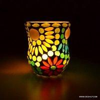 GLASS MOSAIC T  LIGHT VOTIVE