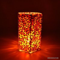 SQUIRE SHAPE GLASS CANDLE HOLDER