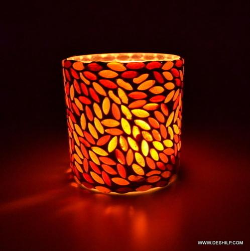 Multi Color Designer Glass Table Lamp
