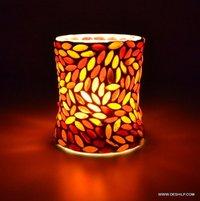 ANTIQUE & DECOR IMAGINATION GLASS CANDLE T LIGHT HOLDER