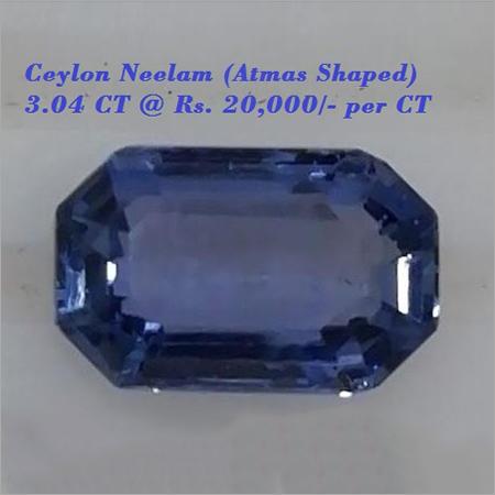Ceylon Neelam-3.04 CT.