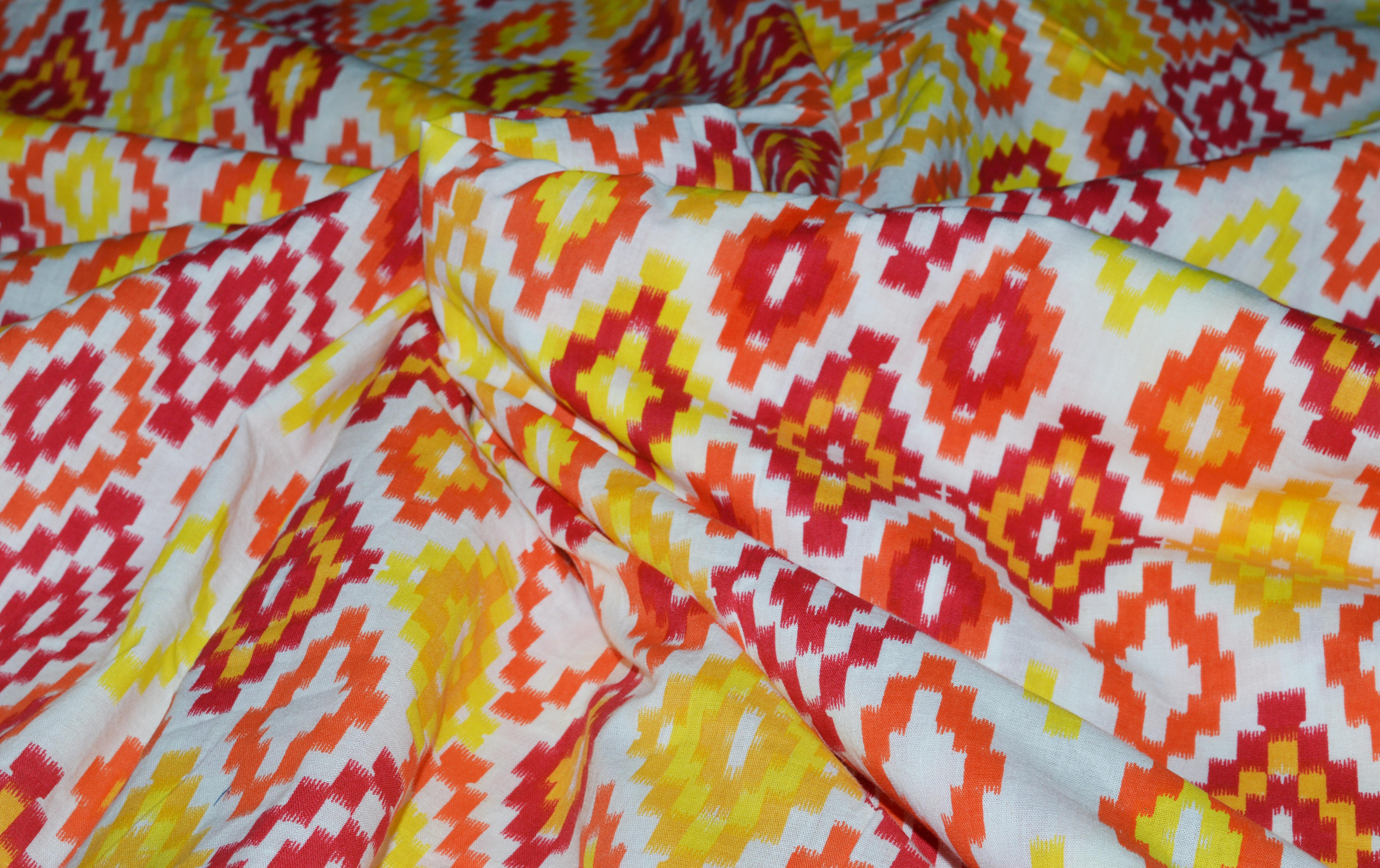 Traditional Print Design Running Fabric
