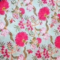 floral hand block print
