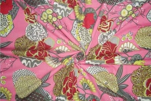 Ethnic Sanganeri Screen Print Pure 100% Cotton Fabric Fruit Design Printed