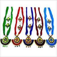 Terracotta Golden Necklace Set