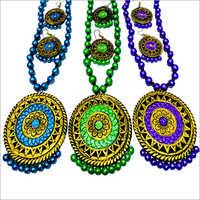 Handmade Designer Terracotta Necklace Set