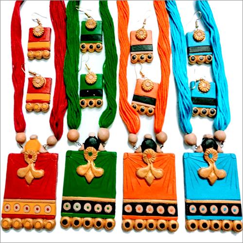 Handmade Fancy Artificial Terracotta Jewellery Set