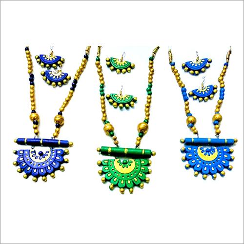 Handmade Terracotta Necklace Jewellery Set