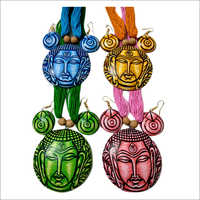 Handpaint Terracotta Artificial Necklace Set