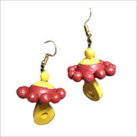 Fancy Terracotta Earrings