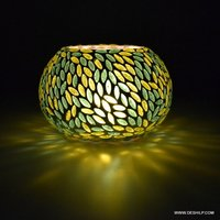 DECORATIVE GLASS CANDLE VOTIVE HOLDER