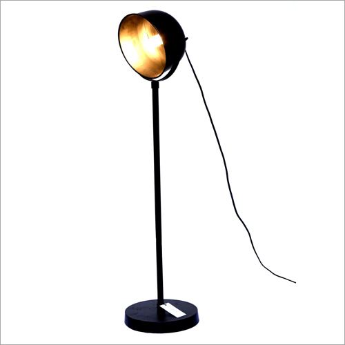 Matt Black Antique Brass Floor Lamp