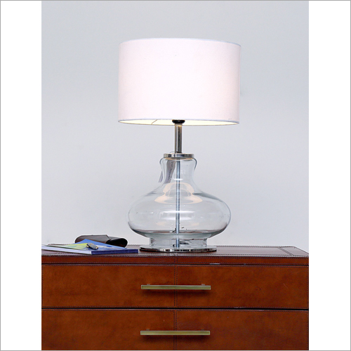 Clear Glass Table Lamp