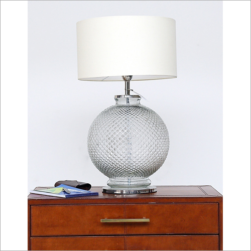 Clear Round Glass Table Lamp