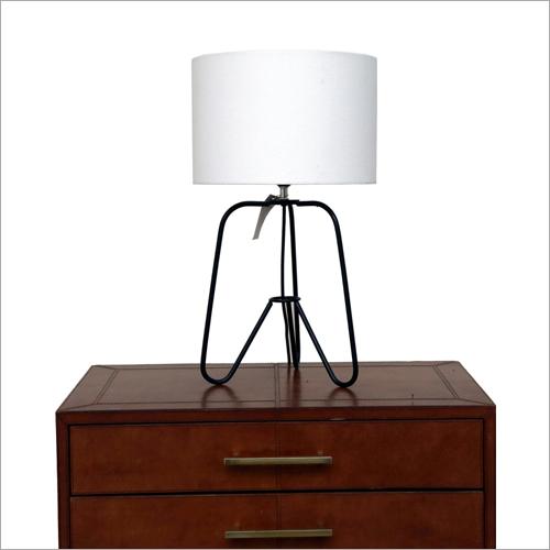 Matt Black Brass Stand Table Lamp