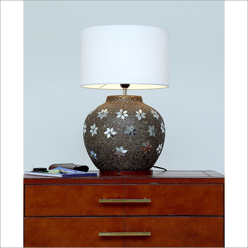 Round Brass Table Lamp