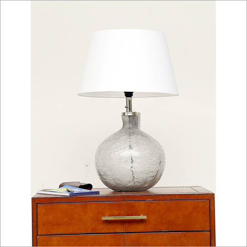 Round Glass Table Lamp