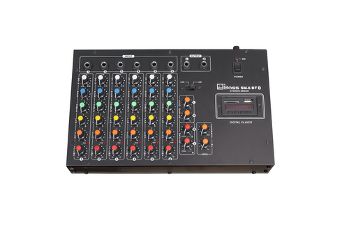 6 Mic Audio Mixer with Echo\USB\Bluetooth\Recording