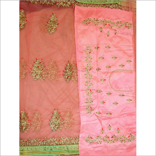 Ladies Embroidered Georgette Saree