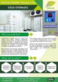 Ozone Generator For Cold Storage Plants