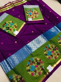Silk Work Saree