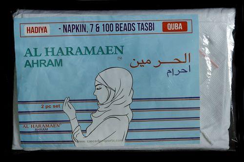 Ladies White Woven scarf for Hajj/Umrah