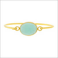 Ladies Aqua Chalcedony Bangle