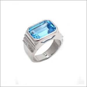 Mens Blue Topaz Rings
