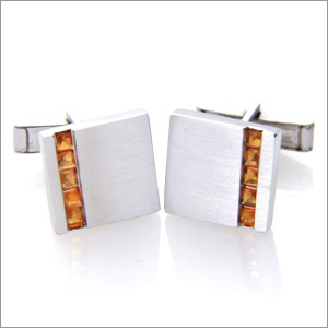 Mens Citrine Cufflinks