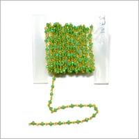 Amethyst Green Beads Chain