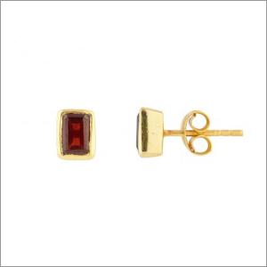 Garnet Earring Stud