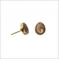 Smoky Topaz Earring Studs