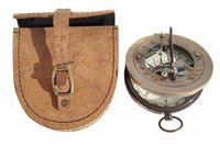 Sundial Compass with Genuine Leather Case
