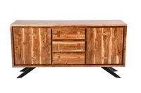 Wooden Teak Light Frame Bedside Table