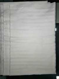 Hotel White Cotton Bed Sheet Fabric
