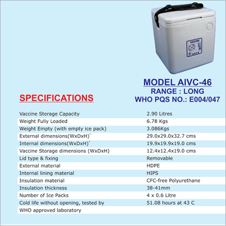 Large Vaccine Carrier Box AIVC - 46L