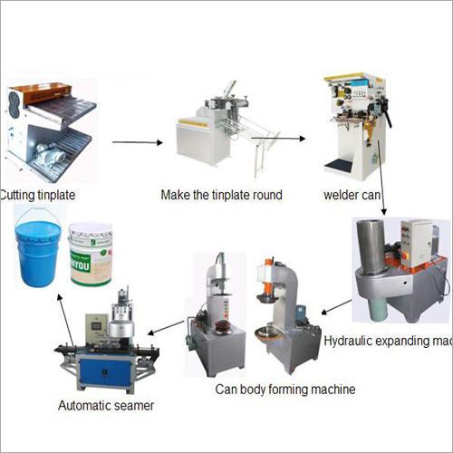 20L Semi Automatic Pail Barrel Drum Tin Can Body Making Machine Line