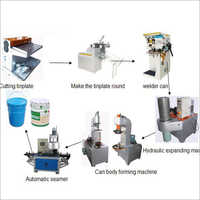 20L Semi Automatic Pail Barrel Drum Tin Can Body Making Machine Line
