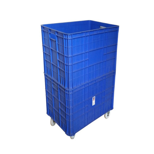 Plastic Crate 857425 Double Height with wheel