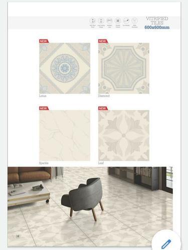 600 X 600 mm Nano Polished Vitrified Floor Tiles