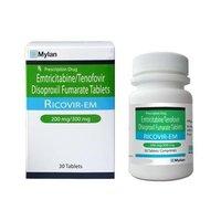 Ricovir EM Emtricitabine 200mg Tenofovir 300mg Tablets